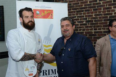 Lo chef Joshua Pinsky del ristorante Momofuku Nishi di New York con Giuseppe Di Martino, Amministratore Delegato del Gruppo Di Martino.